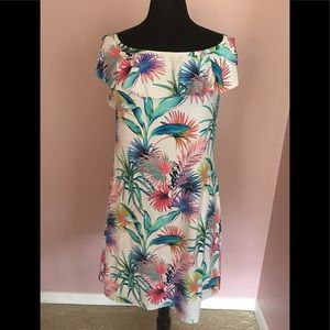 NWOT Tommy Bahama Off Shoulder Sun Dress Lg